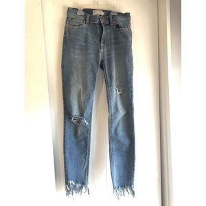 Free People, Great Heights Frayed Skinny Jeans